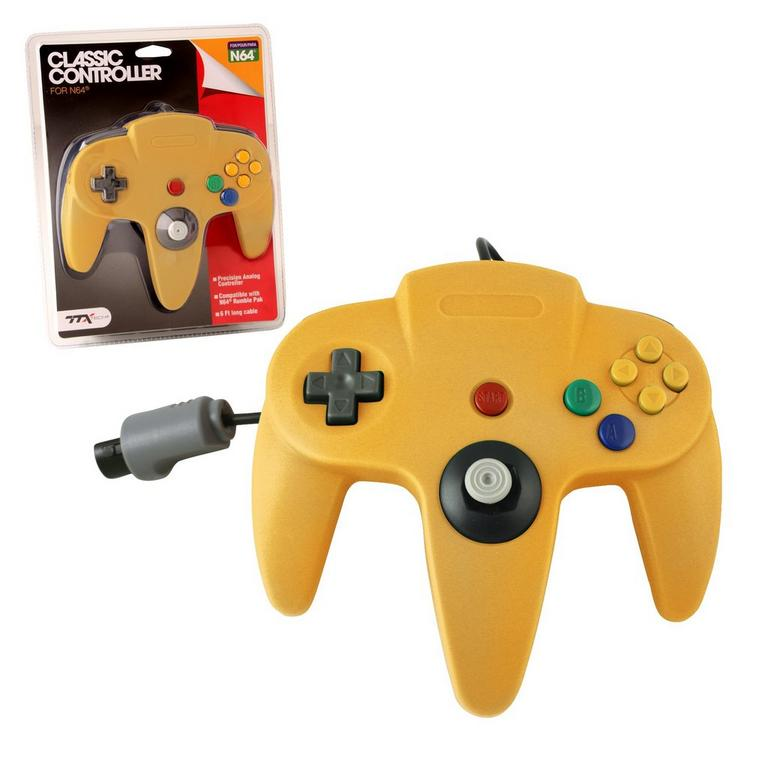 Nintendo 64 Classic Controller - Solid Yellow