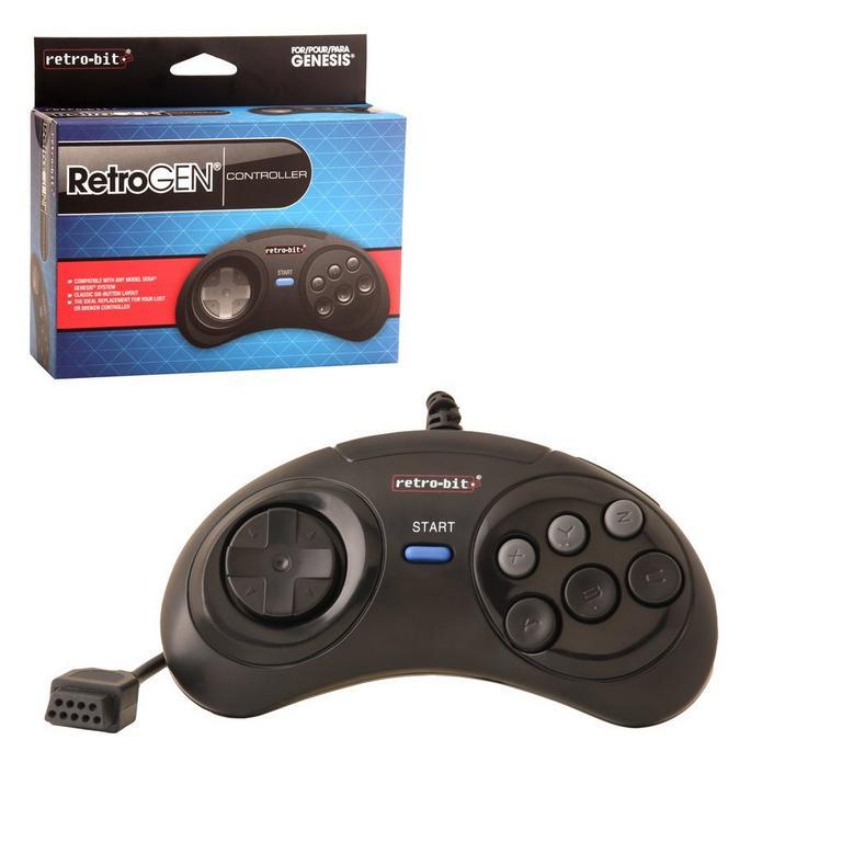 Sega Genesis 6 Button RetroPad Wired Controller