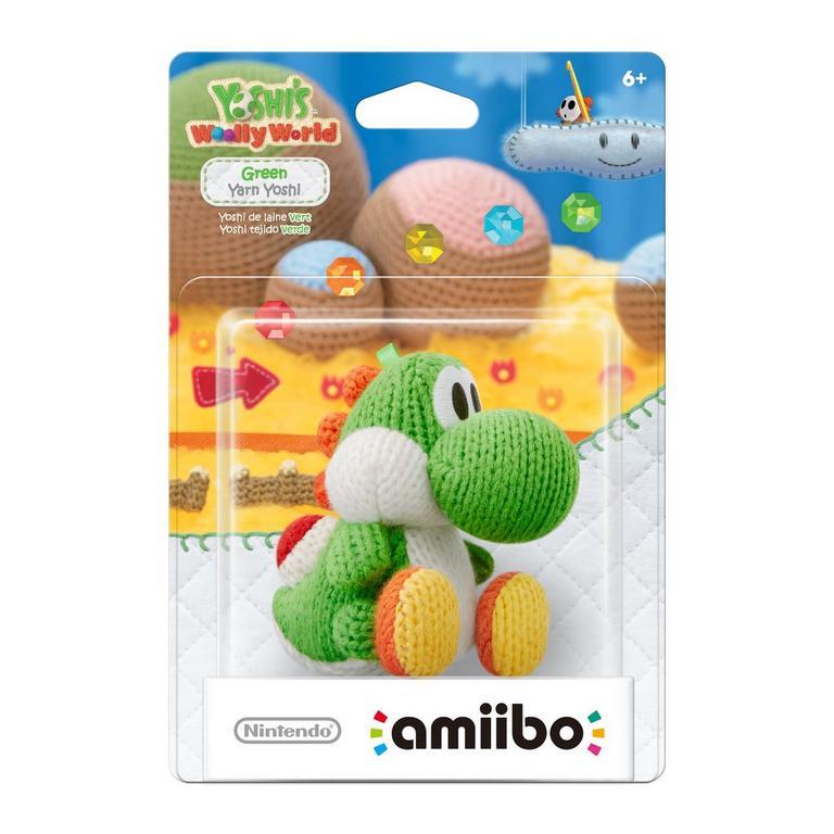 Yarn Yoshi amiibo - Green