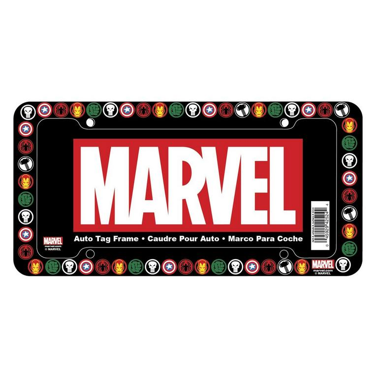 Marvel Heroes License Plate Frame