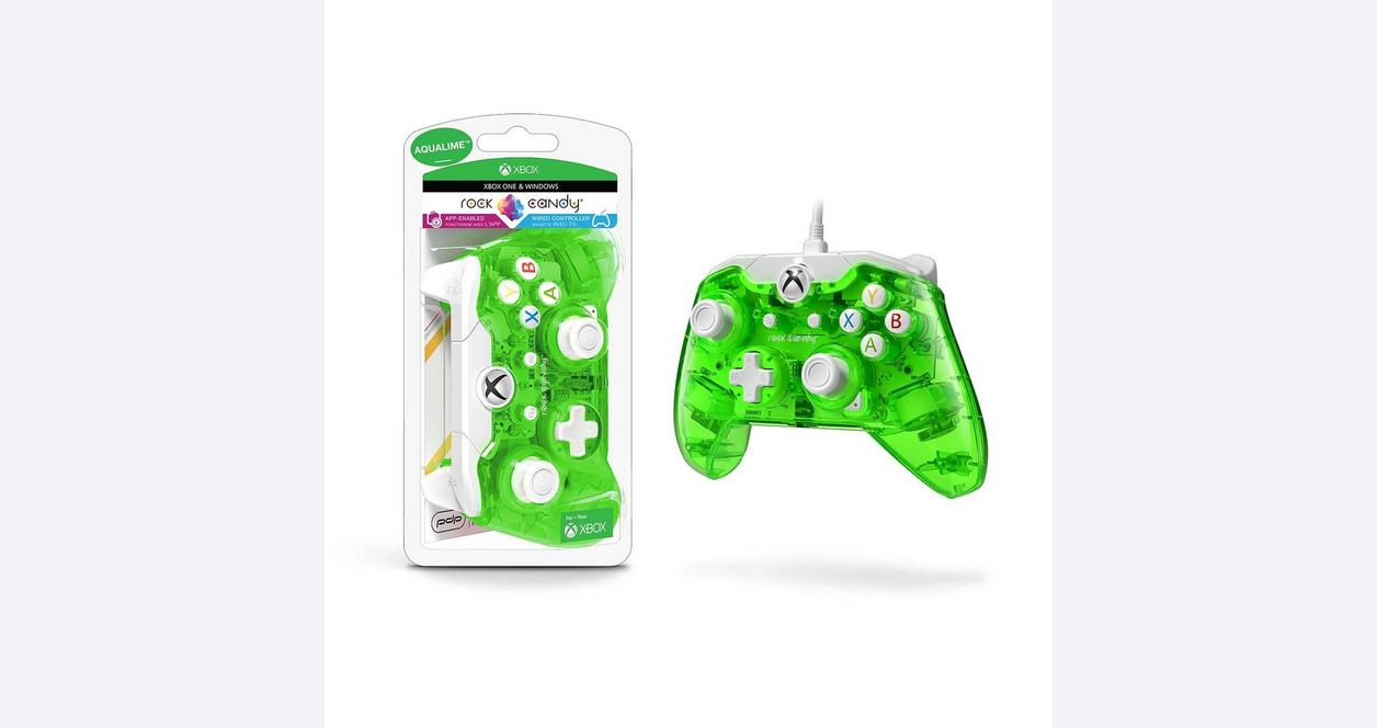 Xbox One Rock Candy Aqualime Wired Controller