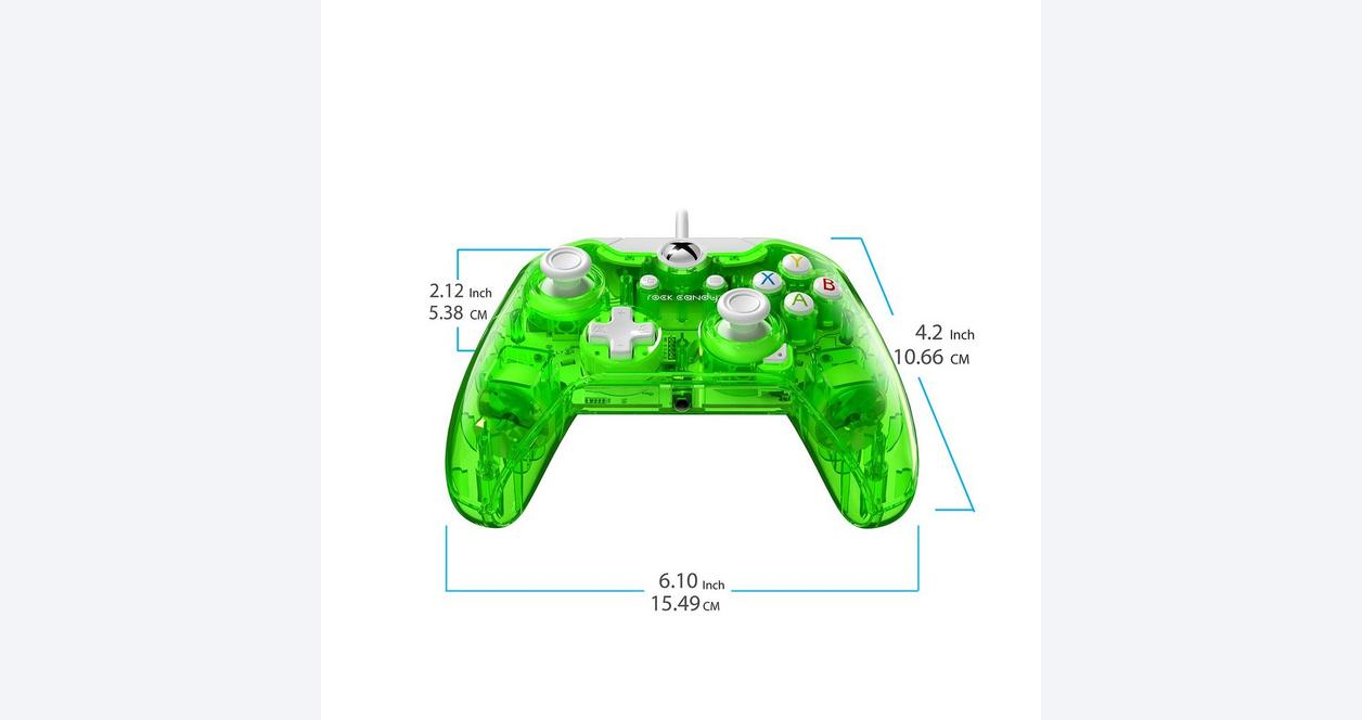 Rock Candy Aqualime Wired Controller for Xbox One