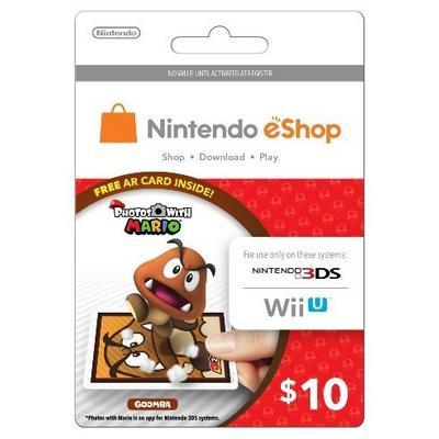 Nintendo eShop Card $10  Photos with Mario (Goomba)