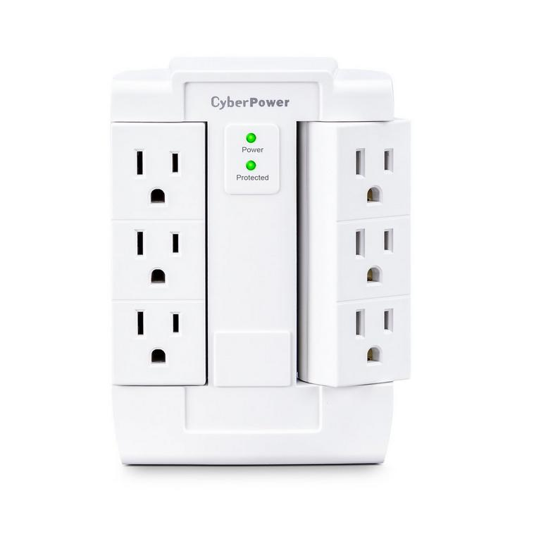 6 Outlet Swivel Surge Protector