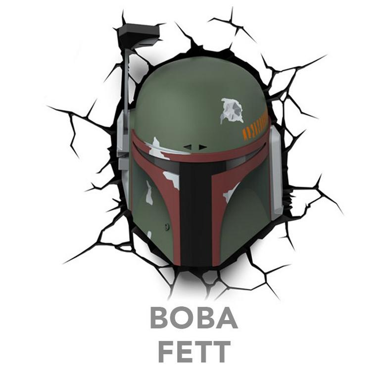 Star Wars 3D Deco Lights: Boba Fett - by ThinkGeek