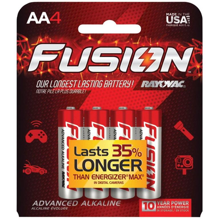 Rayovac Fusion AA Batteries 4 Pack