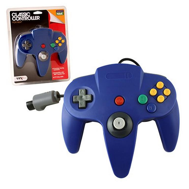 Blue Wired Classic Controller for Nintendo 64