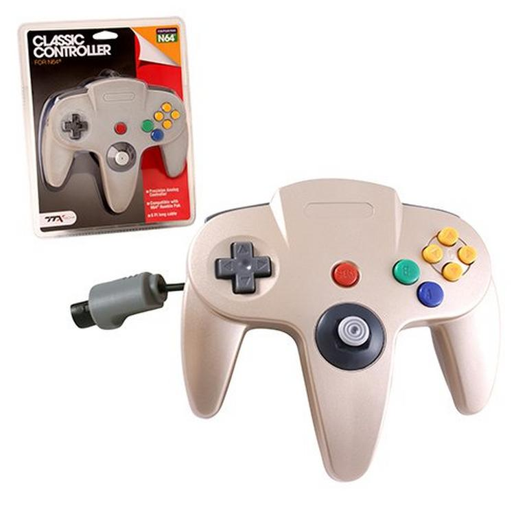Gold Wired Classic Controller for Nintendo 64