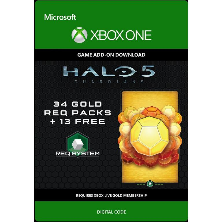 Halo 5: Guardians 34 Gold Req Packs and 13 Free