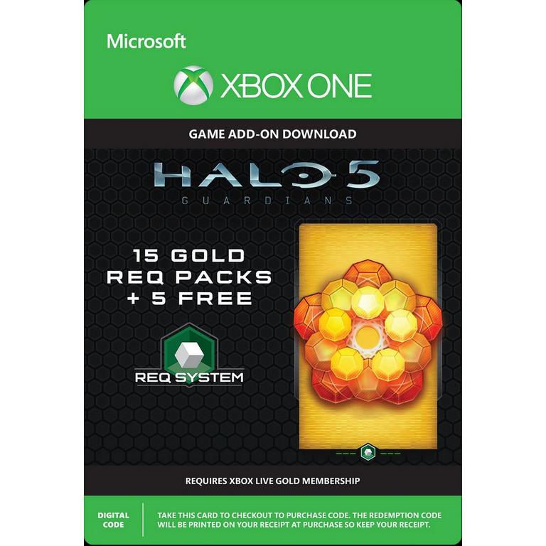 Halo 5: Guardians - 15 Gold Req Packs + 5 Free