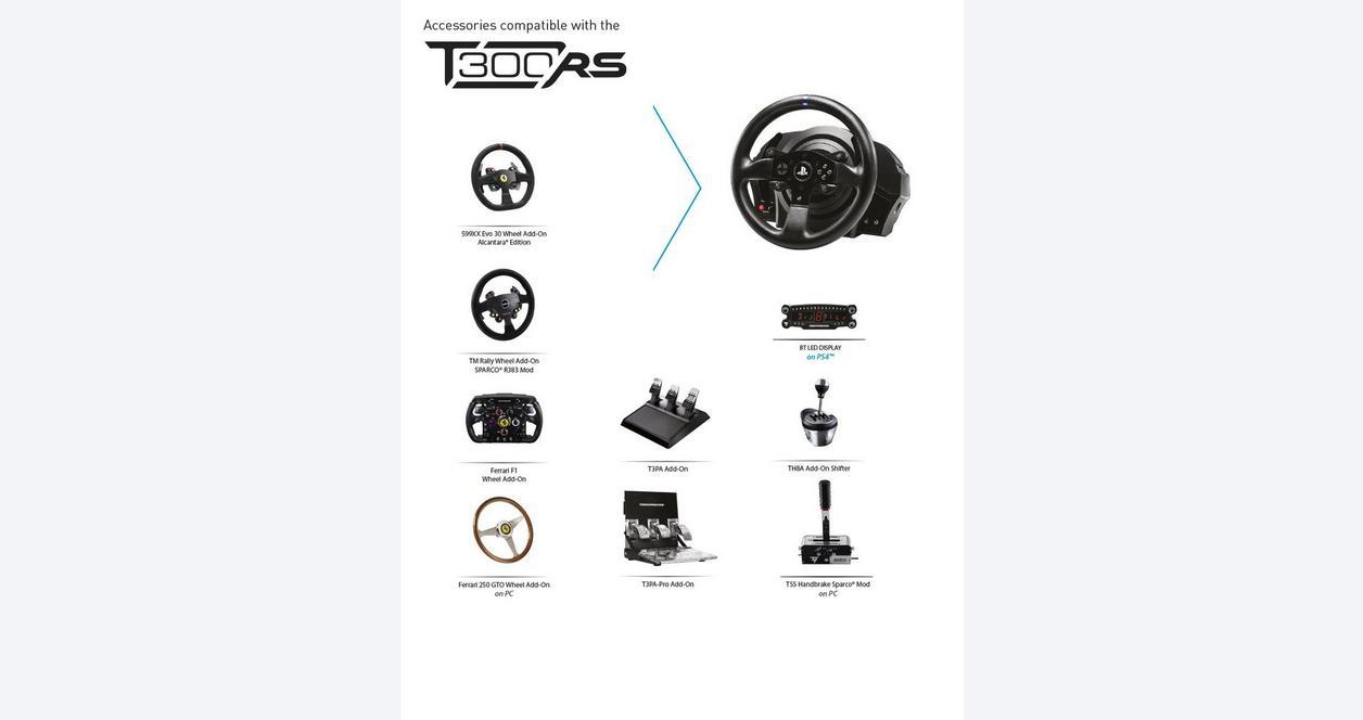 Thrustmaster T300 Ferrari Alcantara Racing Wheel | PlayStation 4 | GameStop