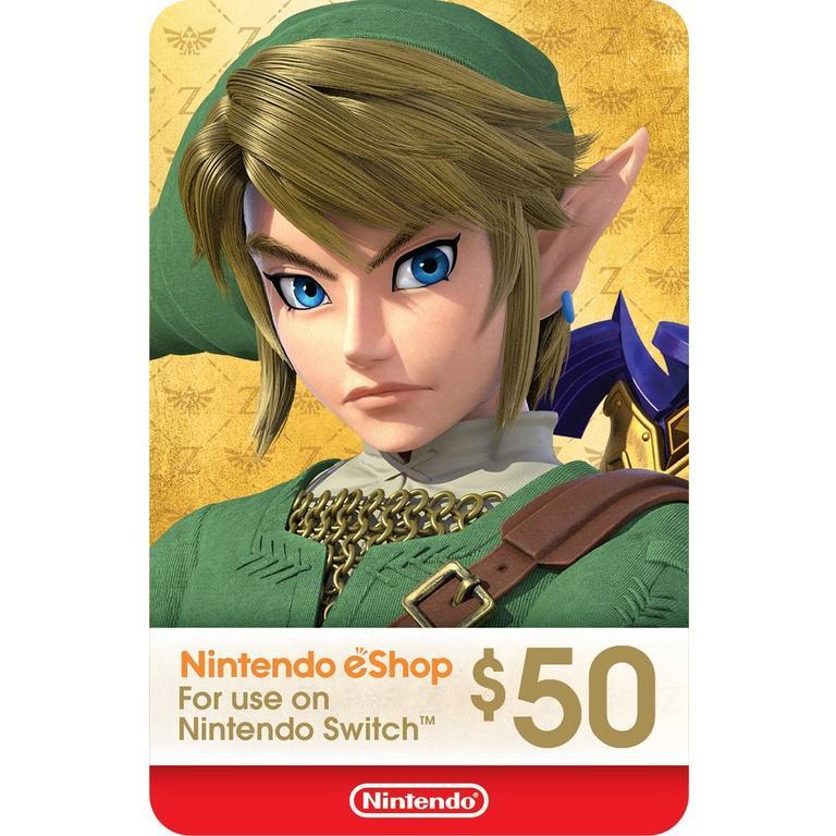 Nintendo eShop Digital Card $50 Nintendo Switch Download Now At GameStop.com!