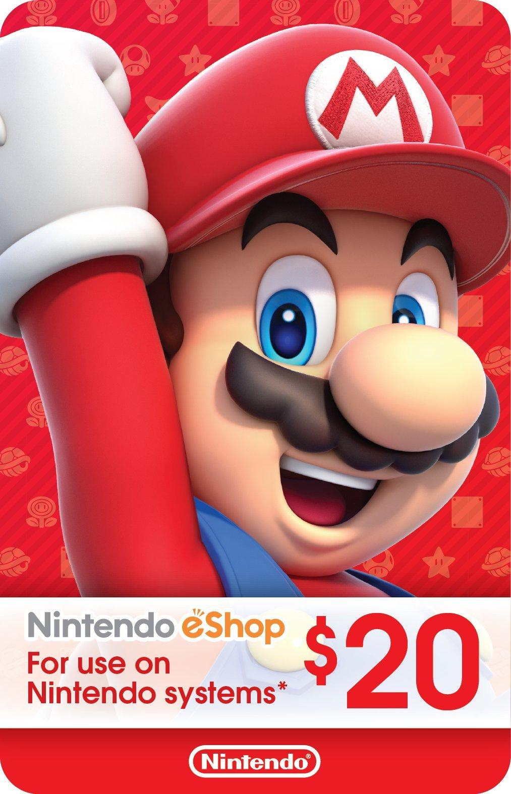 Nintendo eShop Digital Card $20 | GameStop