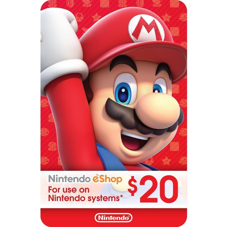 Nintendo eShop Digital Card $20 Nintendo Switch Download Now At GameStop.com!