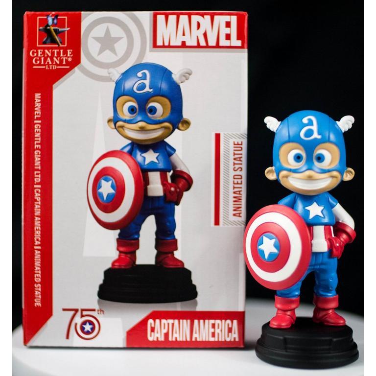 Animated Captain America Statue