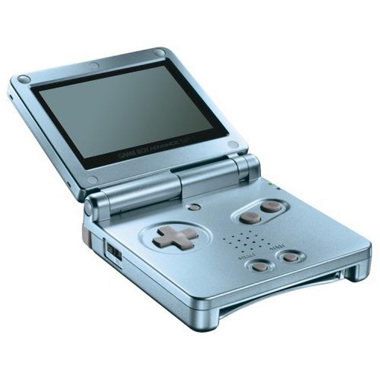 Nintendo Game Boy Advance SP Pearl Blue GameStop Premium Refurbished