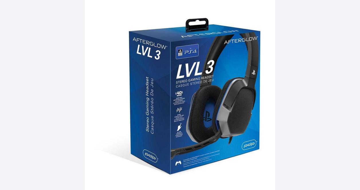 Afterglow LVL 3 Wired Stereo Gaming Headset for PlayStation 4
