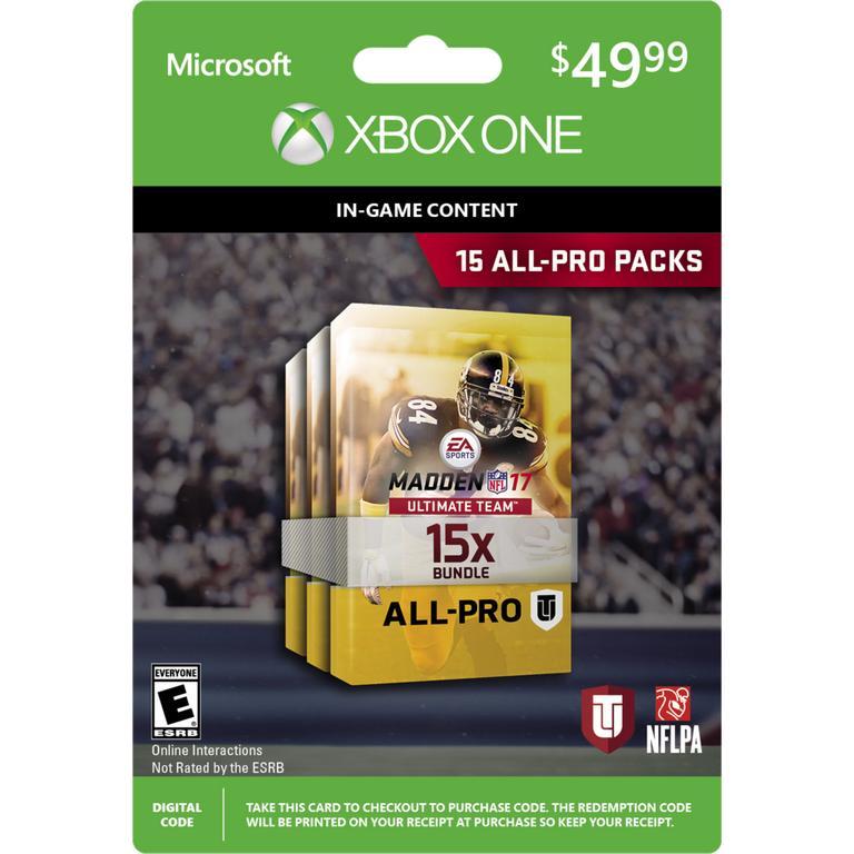 Madden NFL 17 Ultimate Team 15 All-Pro Packs