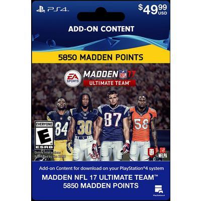 Madden NFL 17 Ultimate Team 5850 Points