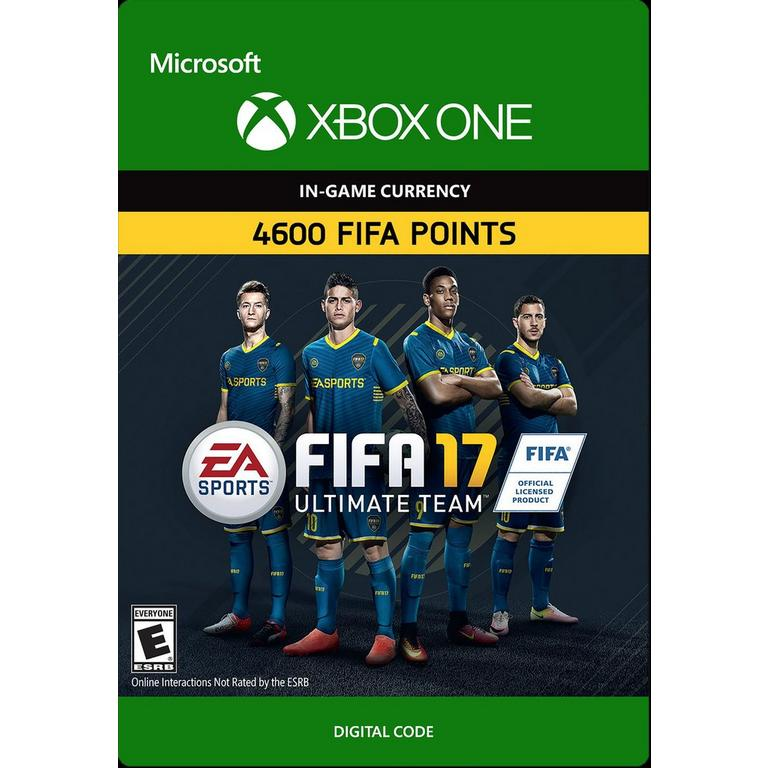 FIFA 17 4600 Ultimate Team Points Digital Card