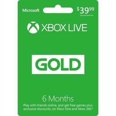 6-Month Xbox Live Gold Membership