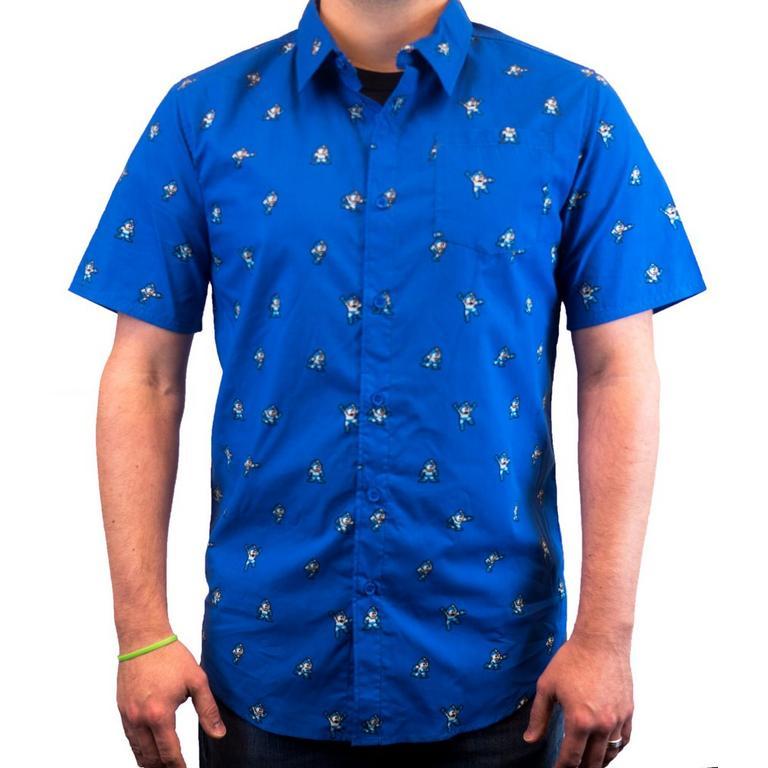Mega Man Button Down Shirt