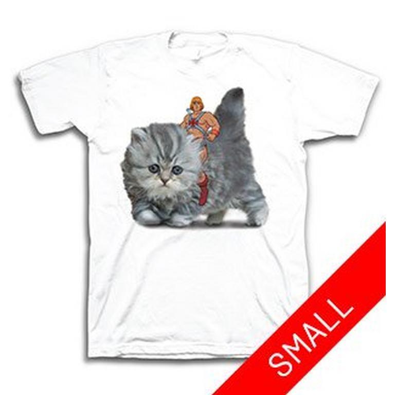 He-Man Riding Kitten T-Shirt