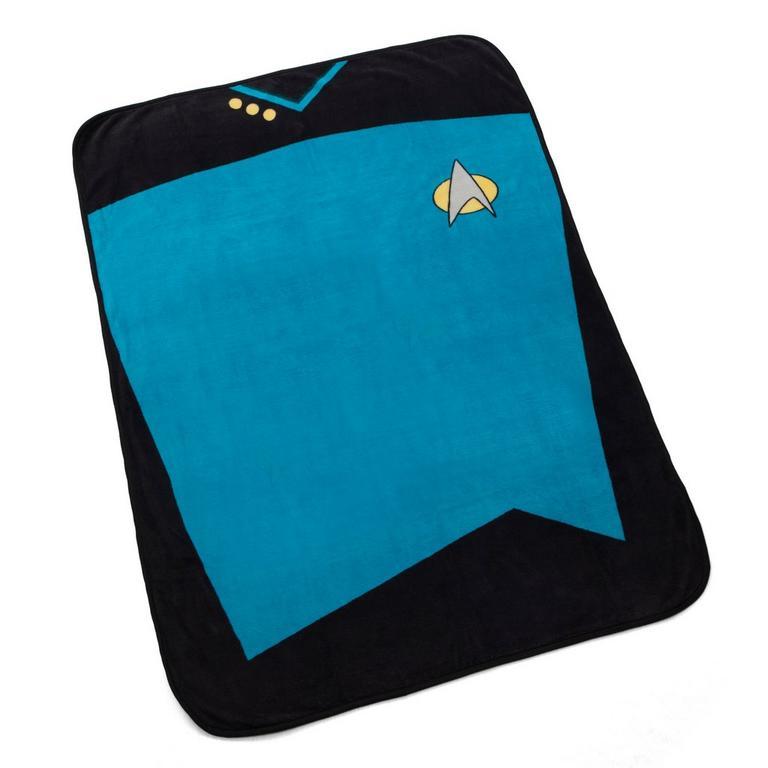 Star Trek TNG Fleece Blanket: Blue - by ThinkGeek