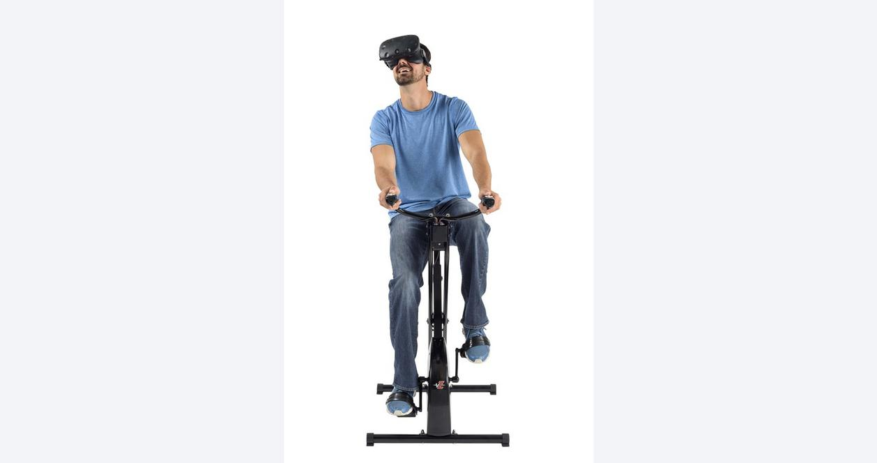 Virtual Reality Exercise Bike with Games