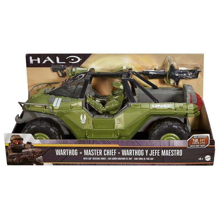 Halo: Warthog Vehicle with Master Chief Figure
