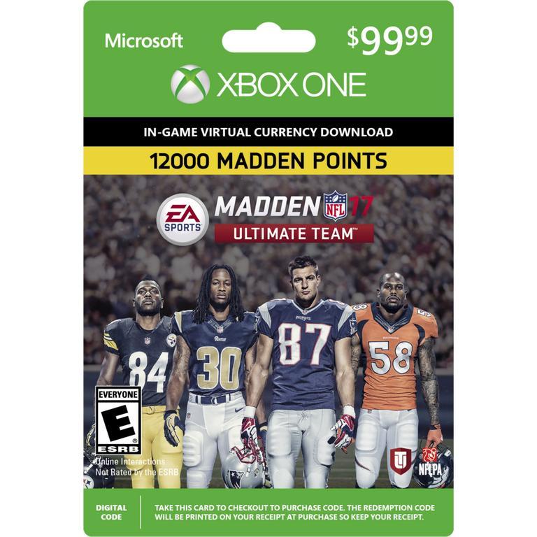 Madden NFL 17 Ultimate Team 12000 Points