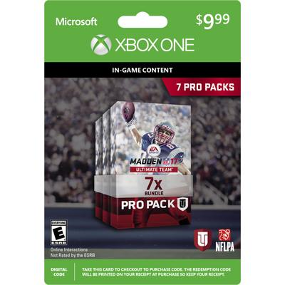 Madden NFL 17 Ultimate Team 7 Pro Packs