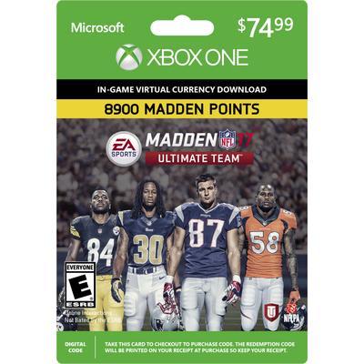 Madden NFL 17 Ultimate Team 8900 Points