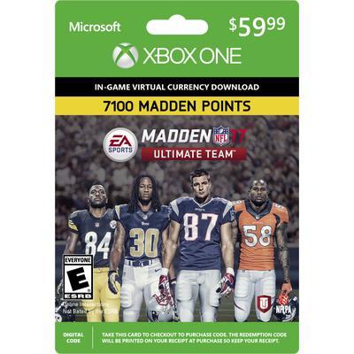Madden NFL 17 Ultimate Team 7100 Points