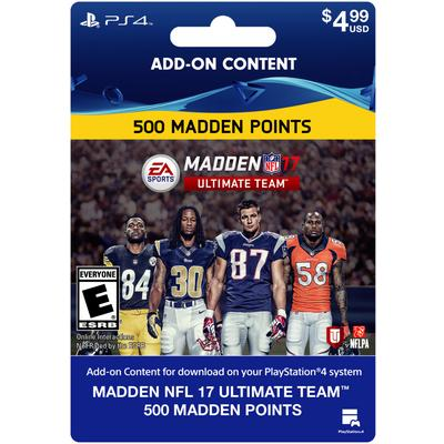 Madden NFL 17 Ultimate Team 500 Points