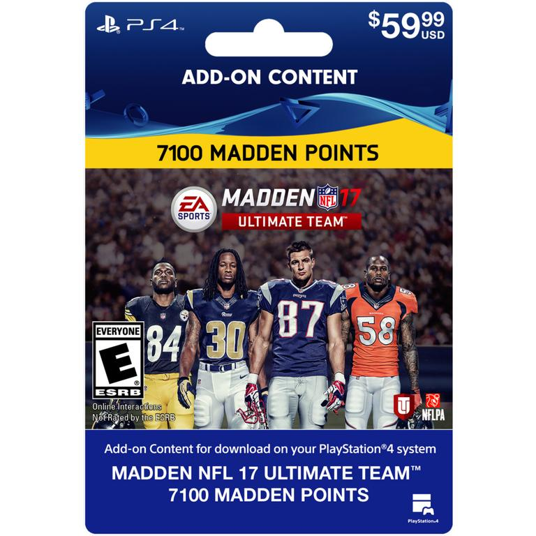 Madden NFL 17 Ultimate Team 7100 Points