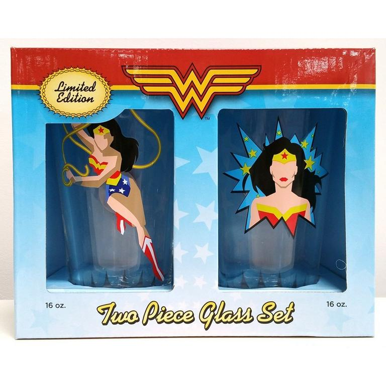 Wonder Woman Limited Edition 2 Pack Glass Set