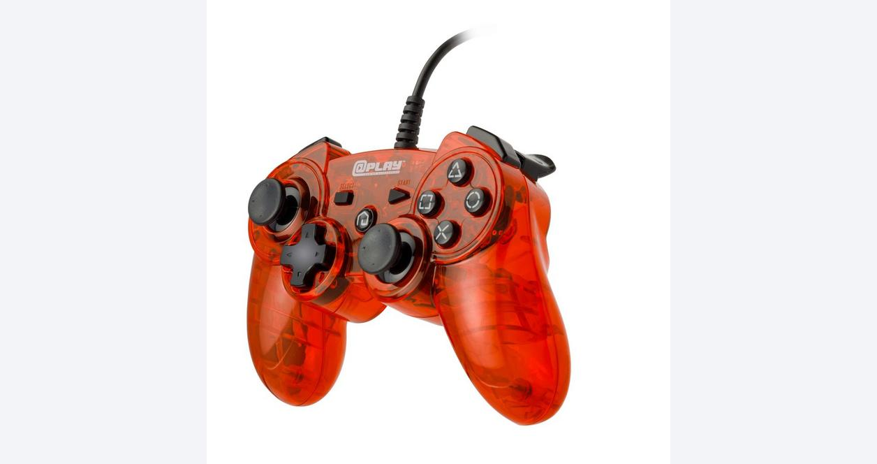 Red Wired Controller for PlayStation 3