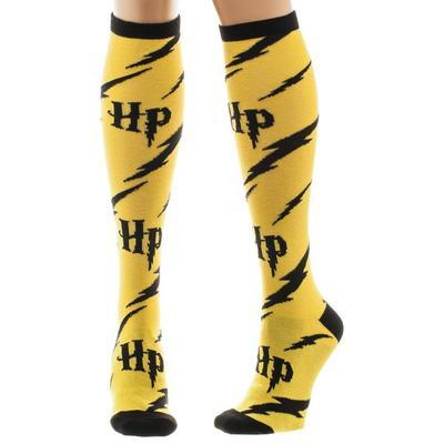 Harry Potter and Lightning Bolt Knee-High Socks