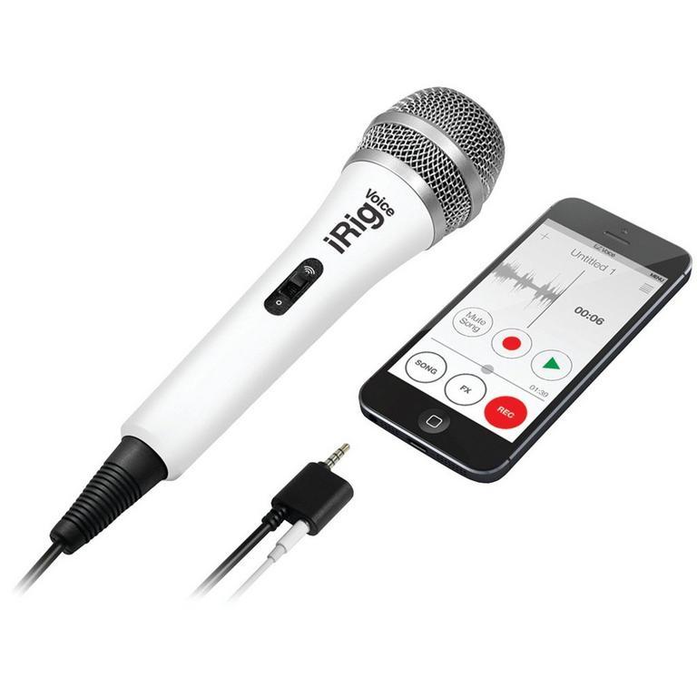 IK Multimedia iRig Voice karaoke microphone - white