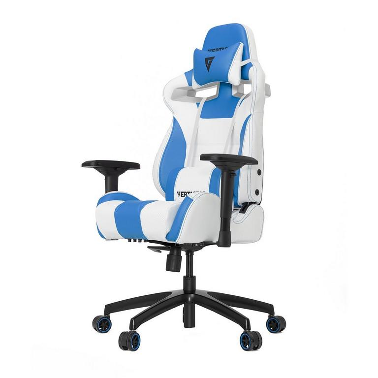 S-Line SL4000 White and Blue Gaming Chair