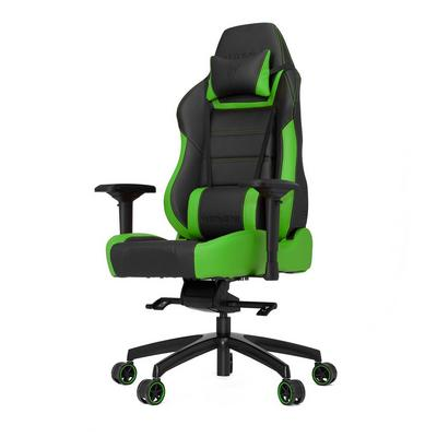 P-Line PL6000 Black and Green Gaming Chair