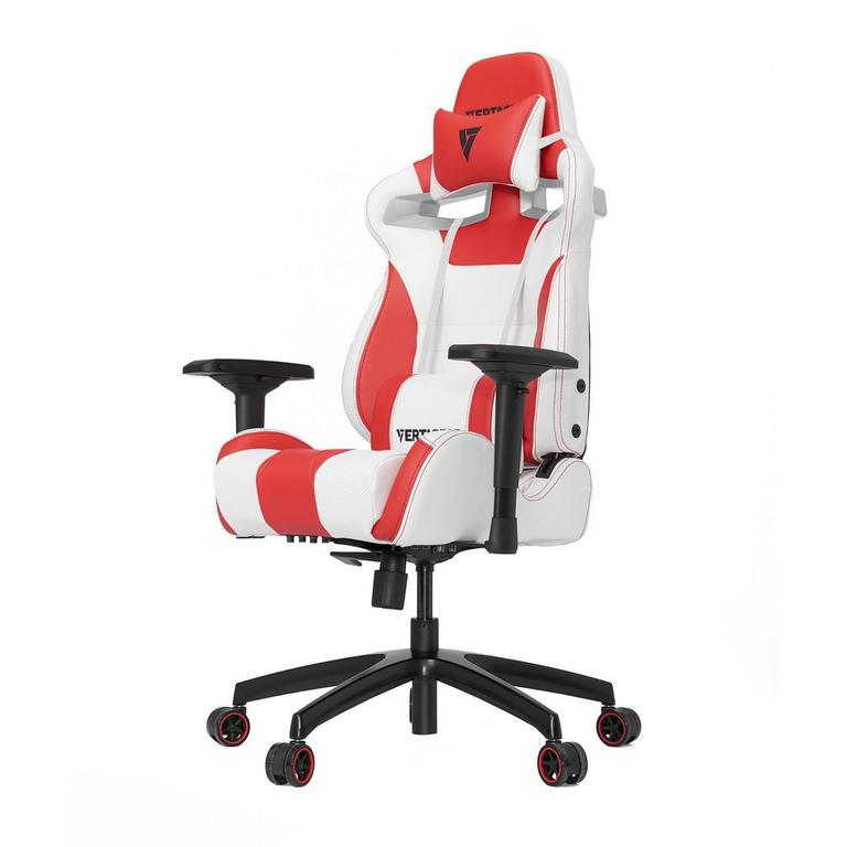 S-Line SL4000 White and Red Gaming Chair