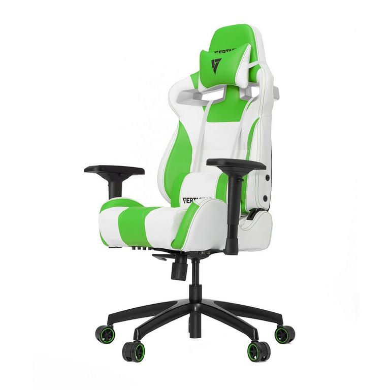 S-Line SL4000 White and Green Gaming Chair