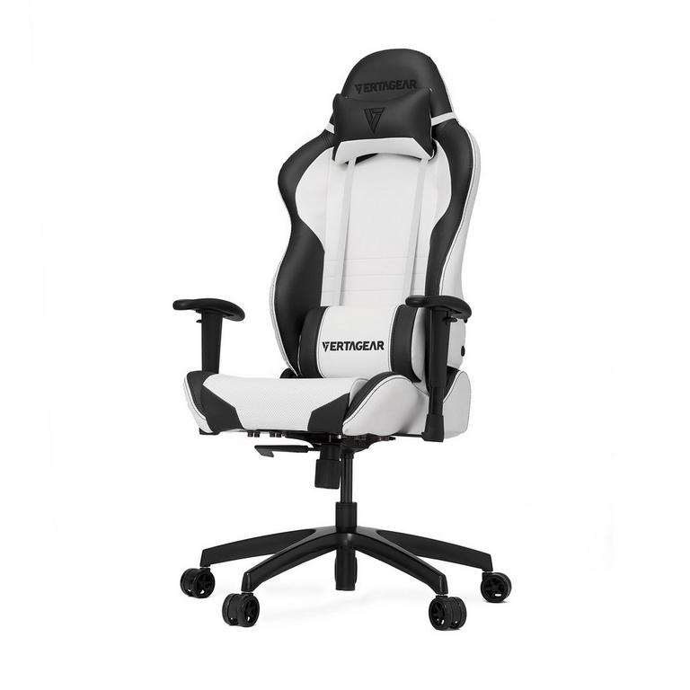 S-Line SL2000 White and Black Gaming Chair