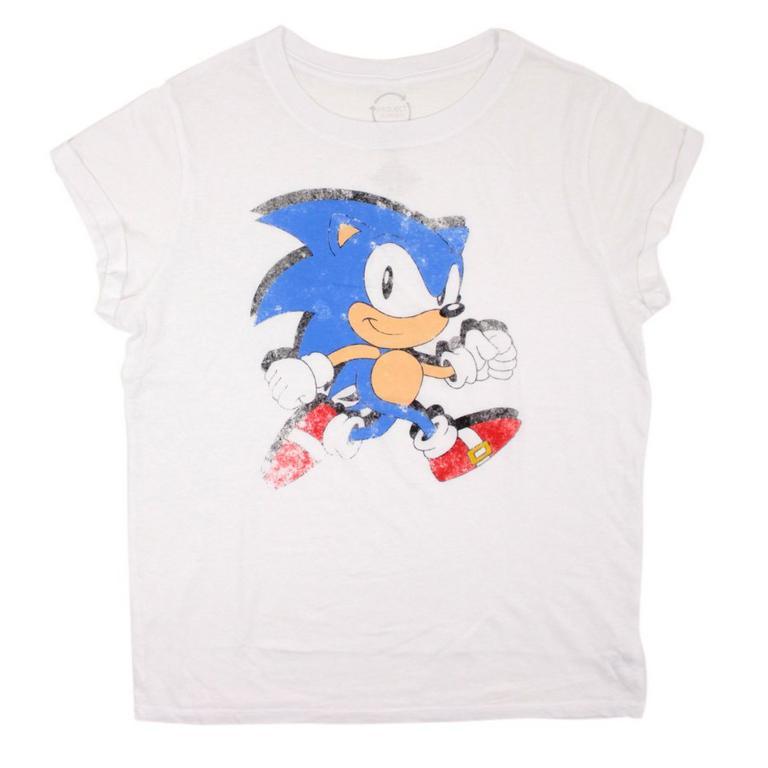 Sonic White Juniors Shirt