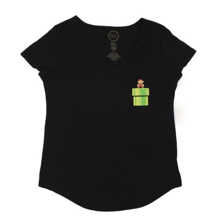 Super Mario Bros. Pipe Pocket Juniors T-Shirt