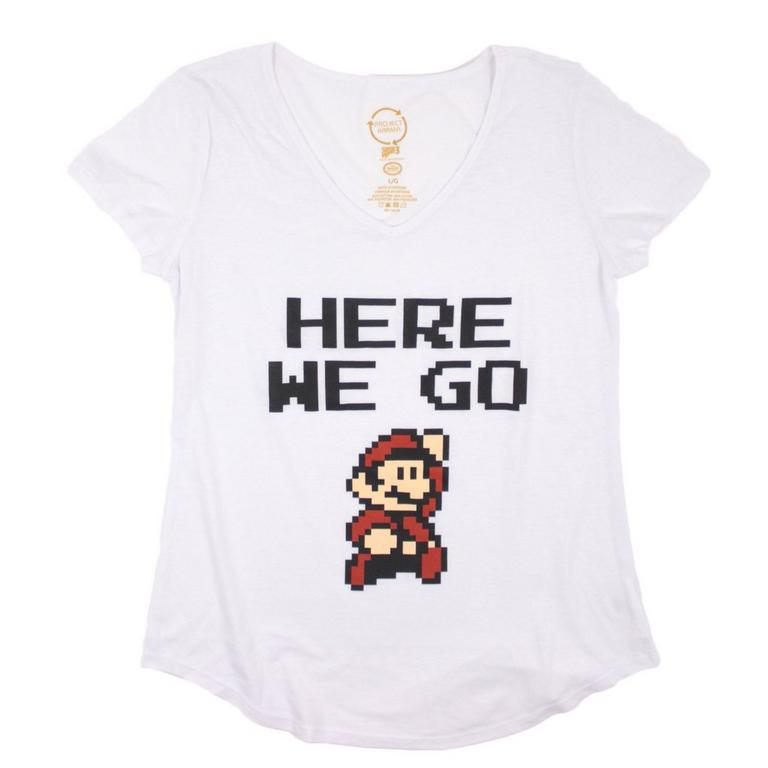 Super Mario Bros. Here We Go Juniors T-Shirt