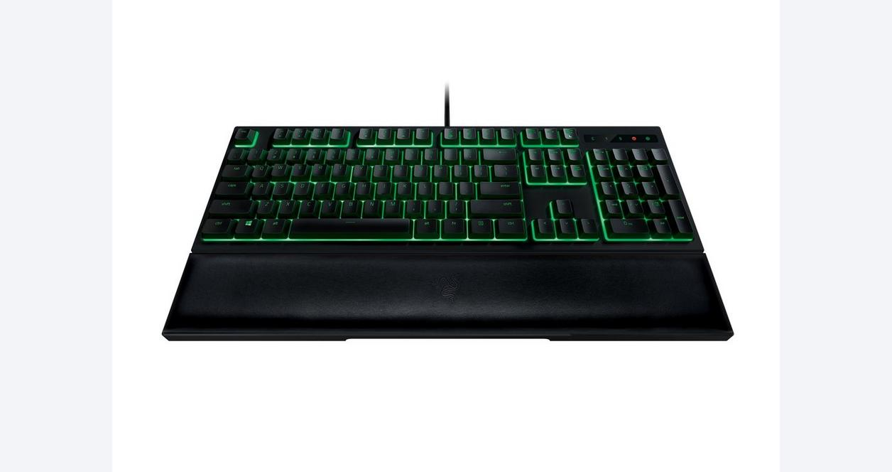 Razer Ornata - Mecha-Membrane Gaming Keyboard with Included Wrist Rest