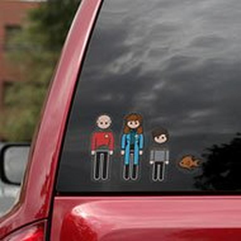 Star Trek The Next Generation Family Car Decals